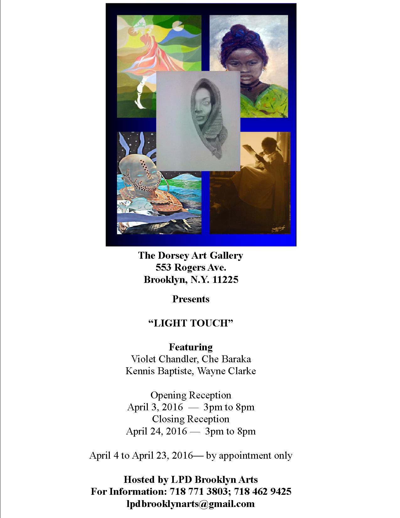"The Dorsey Art Gallery presents ""Light Touch"""
